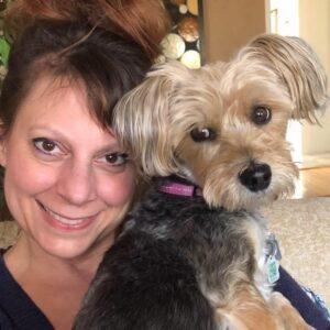 Karrianne and dog Munchie